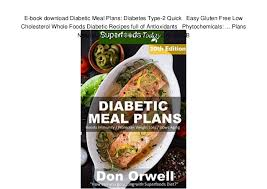 Diabetic Meal Plan Free E Book Download Diabetic Meal Plans Diabetes Type 2 Quick