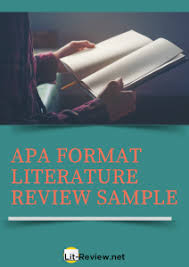 Use The Right Apa Literature Review Outline Lit Review