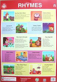 Buy Nursery Rhymes Plastic Wall Chart Water Resistant