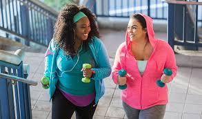overweight women exercising