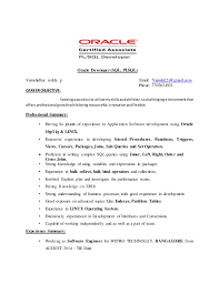 Sql Developer Resumes Pl Sql Sample Resumes Under Fontanacountryinn Com