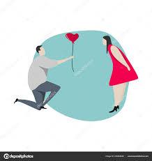 cute couple cartoon vector ilration