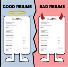Examples Of Good And Bad Resumes Beautiful Good Resumes Vs