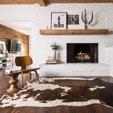 quality cowhide rug faux brown beige area 6 2 x 8 free today