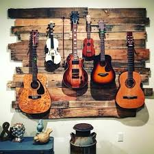 guitar wall hanger guitar and instrument hanger made from up cycled pallets guitar wall hanger guitar wall hanger