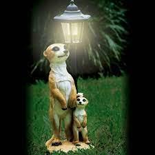 mother child meerkat solar light