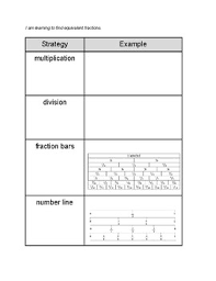 Equivalent Fraction Number Line Chart Equivalent Fraction Strategies Chart Nf 1