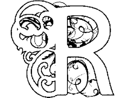 Illuminated Letters Coloring Pages Free Color Bros