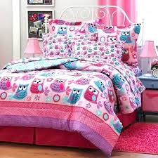 owl queen bedding set girls toddler bed sets bedding for pink beds unique girl home designer