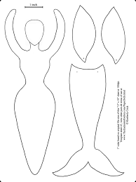 Mermaid Tail Coloring Pages Goddess Form Art Doll Template Fairy
