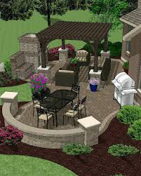 Patio Ideas ~ Gorgeous Outdoor Patio Layout Ideas Outdoor Kitchen ...