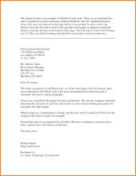 Sample Business Letter In Full Block Style Lezincdc Com
