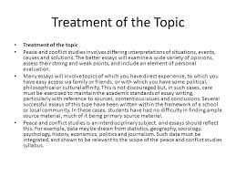 writing an extended essay in peace and conflict studies ppt 6 treatment