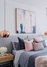 wall art for pink and grey bedroom