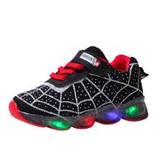Baby Girl Shoes With Lights Us 5 47 5 Off Boys Sneaker Girls Spiderman Kids Led Shoes With Lights Sneaker 2019 Spring Autumn Shoes Children Toddler Baby Girl Shoes On