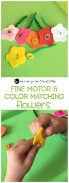 17 best ideas about motor skills fine motor skills fine motor color matching flowers