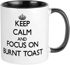 There are 352 burnt orange mugs for sale on etsy, and they cost $26.40 on average. Amazon Com Cafepress Keep Calm And Focus On Burnt Toast Mugs Unique Coffee Mug Coffee Cup Kitchen Dining
