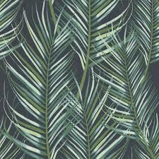 Vliesbehang Palmen Blauwgroen Dessin 100558 Kopen Behang Karwei