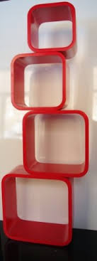Floating Cube Shelves Uk Retro Floating Shelves Bookcase Cube Shelving Red Cubes LO100R 67
