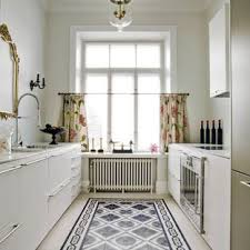 Kitchen floor tiles Grey Transitional Kitchen Designs Example Of Transitional Galley Kitchen Design In London With An Undermount Houzz Tile Floor With White Cabinets Houzz