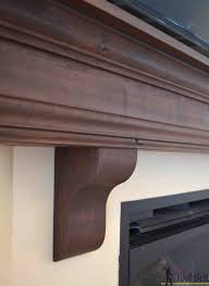 Diy Fireplace Mantel Fireplace Mantel Corbels Items Similar To Fireplace Mantel With