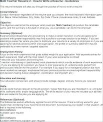 Teaching Objective For Resume Epic Good Objective Teaching Resume ...
