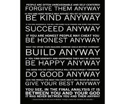 Mother Teresa Quotes Love Anyway Amazing Be Kind Anyway Quote Mother Teresa Loft Wallpapers Free Love Anyway