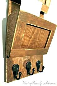 mail and key rack key rack for wall mounted mail sorter letter holder and wood interdesign