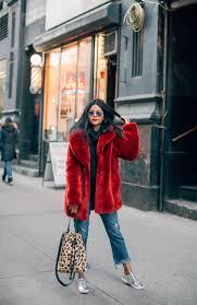 red hot winter coat