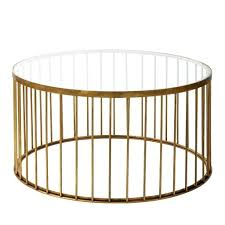 brass coffee table round nz cage