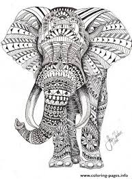Small Picture Elephant For Adults Color Hard Difficult Coloring Pages Printable