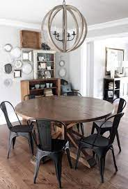 Easy to build base from 2x4s. 25 Fabulous Farmhouse Wood And Metal Furniture Design Ideas Decor Renewal Round Dining Room Black Kitchen Table Farmhouse Kitchen Tables