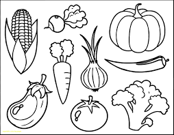 Vegetables Coloring Pages Pdf