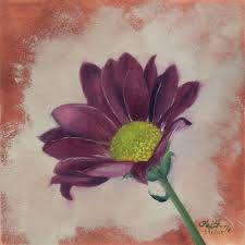 purple flower oil painting a day