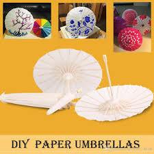 2019 bridal wedding parasols diy white paper umbrellas chinese mini craft umbrella 4 diameter 20 30 40 60cm wedding favor decoration from qwonly