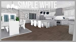 Roblox Welcome To Bloxburg Simple White Kitchen Youtube