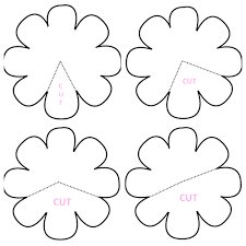 Paper Flower Petal Template Paper Flower Petals Template Under Fontanacountryinn Com