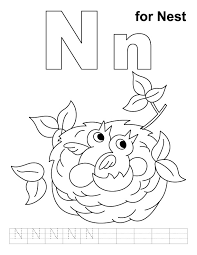 Small Picture free coloring pages of baby birds in nest Note from the