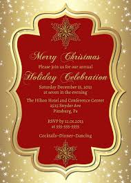 Formal Christmas Party Invitations Gold Christmas Party Invitation Prinbtable Elegant Snowflake