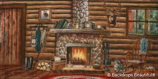 cabin interior 1 backdrop vbs themes