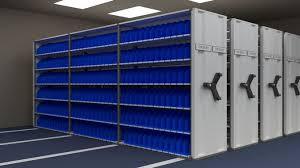 mobile shelving system 3d model obj mtl 3ds fbx stl blend 1