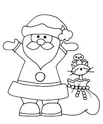 Coloring Sheets Christmas Santa Claus Printable