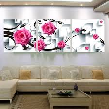 large canvas flower wall art