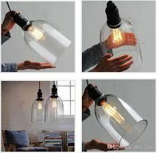 retro diy ceiling lamp light glass pendant lighting home decor fixtures free edison bulb e27 110v 240v modern pendant drop ceiling light fixtures