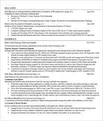student internship resume template internship resume templates