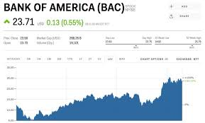 Bank Of America Stock Price Chart Bank Of America Rises After Warren Buffett Becomes Its