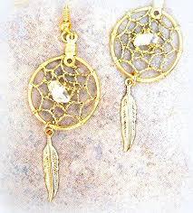 Dream Catcher Earing Beauteous Amazon Gold Dreamcatcher Earrings Quartz Crystal Dream Catcher
