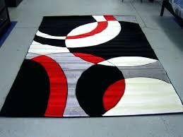 modern red black white pile cut design area rug carpet new red inside black and white