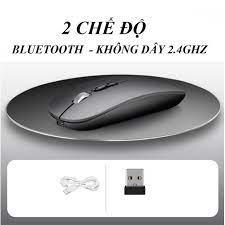 Mã ELFLASH5 giảm 20K đơn 50K] Chuột không dây kiêm chuột Bluetooth 2 chế độ  M103, PIN SẠC 1600 dpi (mã M103) DL TECH - Phụ kiện phím chuột văn phòng  Thương