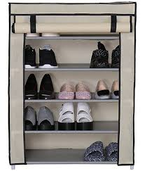 ... Foldable Shoe Rack 5 layer Portable & Fancy wardrobe Closet Organizer  Collapsible Almirah Shelf Multipurpose 5 ...
